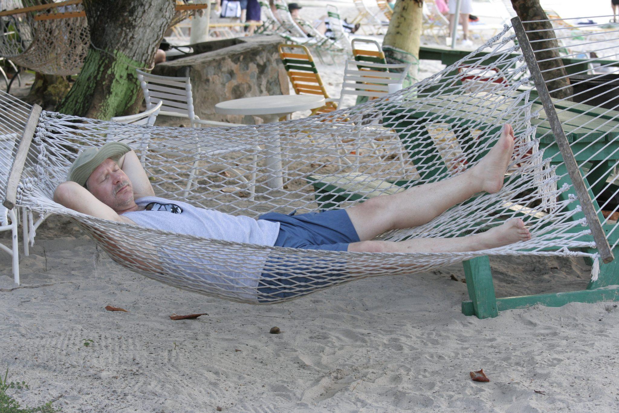 Scott in hammock